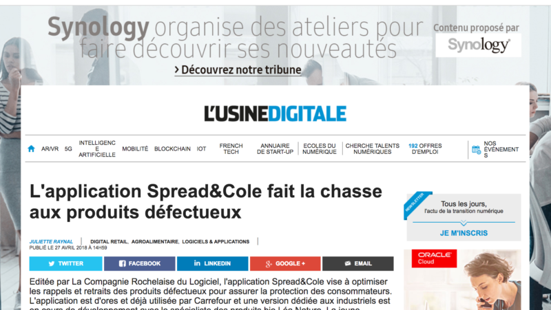 Article Usine Digitale