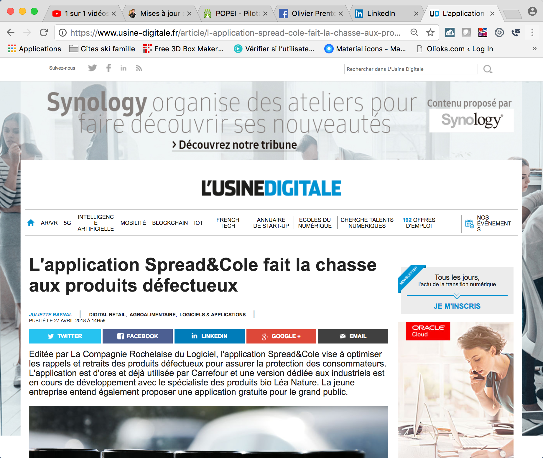 An interview with L'Usine Digitale