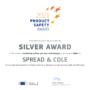 Spread&Cole remporte la médaille d'argent aux Product Safety Award