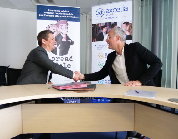 Olivier PRENTOUT et Bruno NEIL signent la convention de mécénat Spread&Cole - Excelia Group