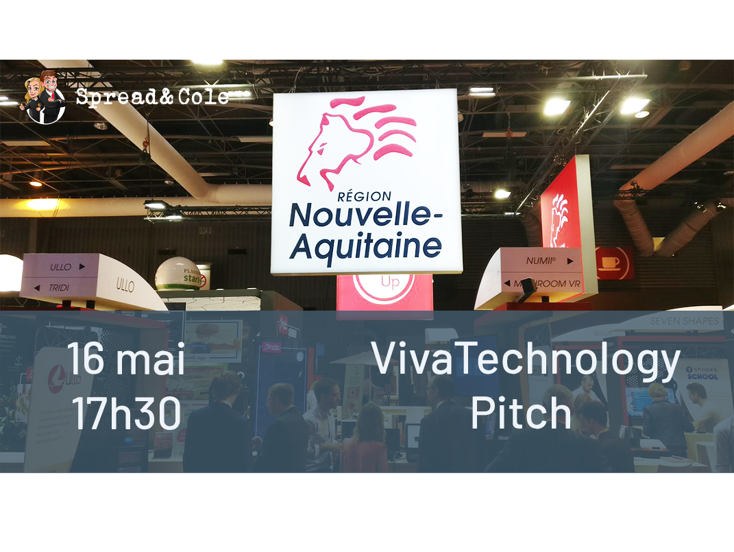 Spread & Cole au salon VivaTech pour un pitch